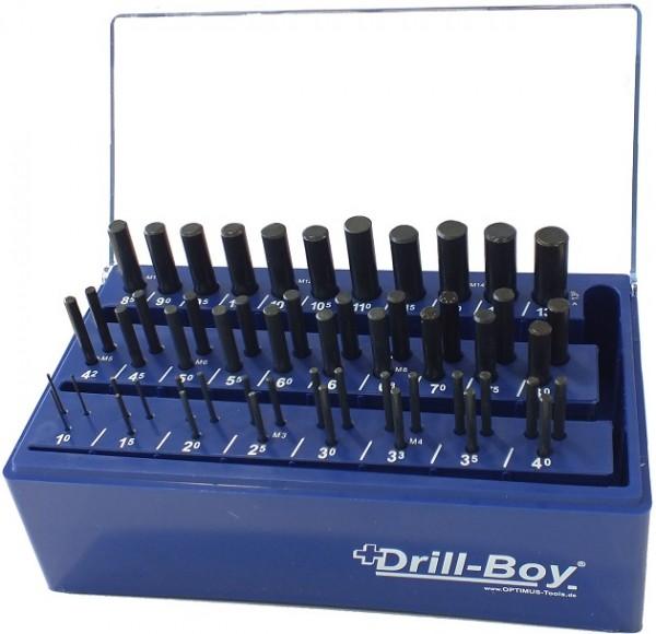 Drill Boy 55 tlg. DIN 338 HSS- RN im Kunststoffständer mit Wandhalterung