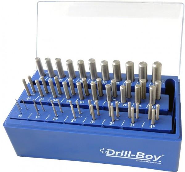 Drill Boy 55 tlg. DIN 338 HSS- G Profi SUPER im Kunststoffständer mit Wandhalterung