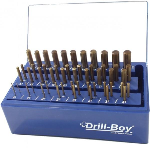 Drill Boy 55 tlg. DIN 338 HSS- CO5% Standard im Kunststoffständer mit Wandhalterung