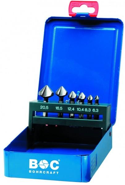 Kegel- und Entgratsenker HSS DIN 335 C 90° mit 6-kant Bit Schaft