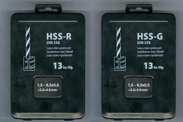 13 tlg. Metallkassette HSS-G DIN 338 Geschliffen Standard